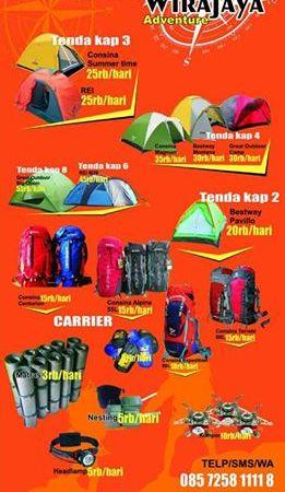 Harga Sewa Tenda Dome Wirajaya Adventure